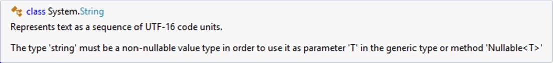 Error cuando marcamos null en tipo string en CSharp 7